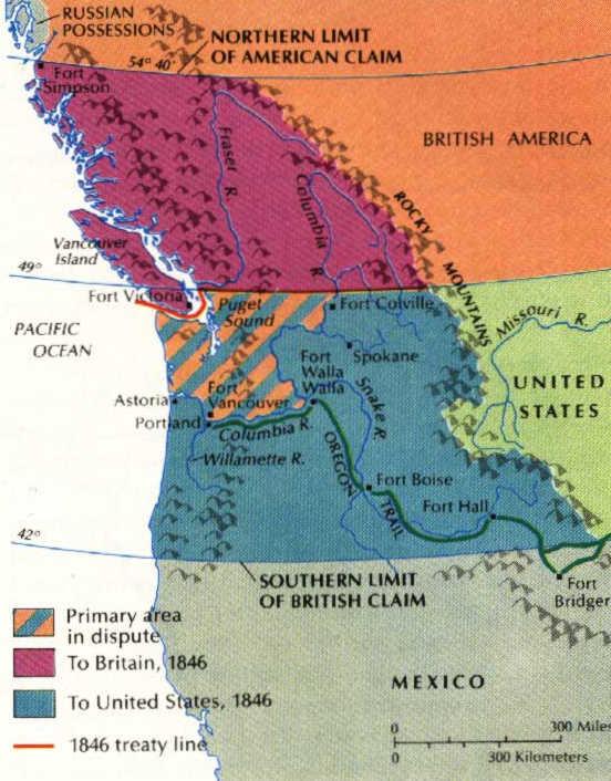 «Орегонский вопрос», 1820-1846